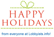 HAPPY HOLIDAYS from everyone at Lobbyists.info!